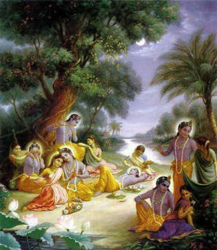 krishna with gopis