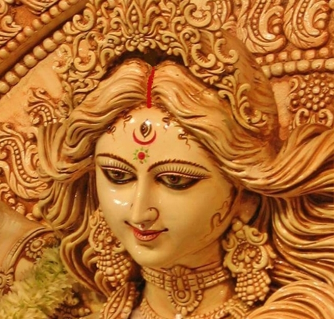 May the merciful glance of Ma Durga be upon us!