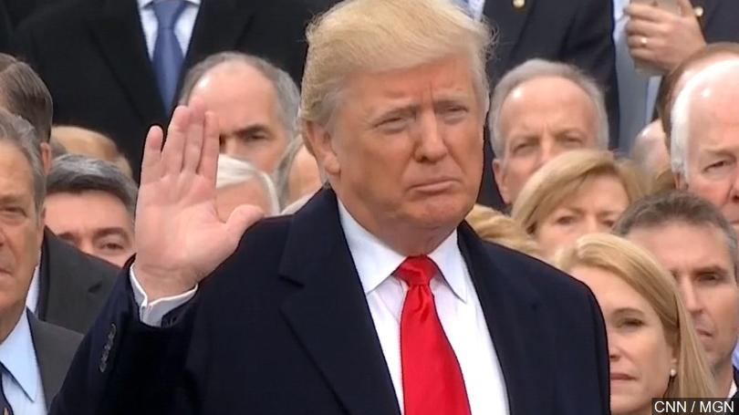 Donald Trump During sworn in ceremony