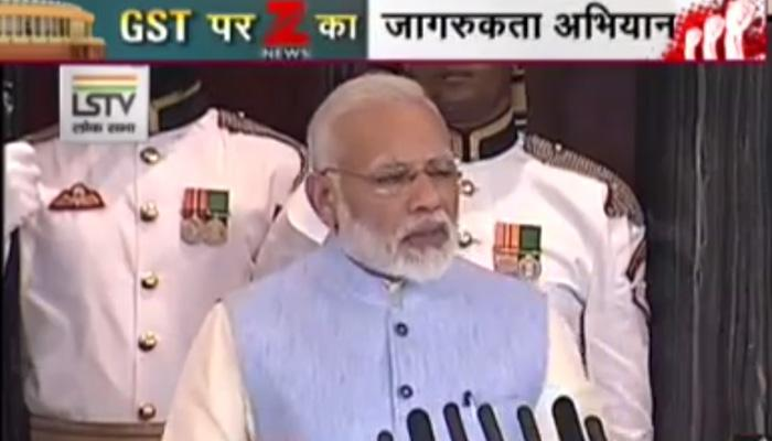 Modi durig GST roll out