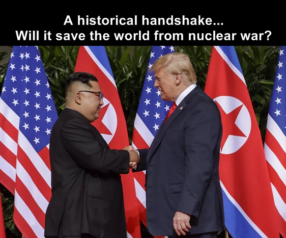 trump and kim leave the past behind