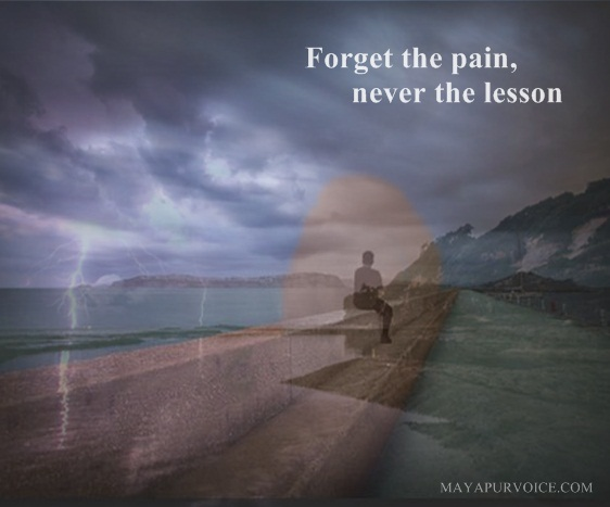 forget the past pain, not the lesson